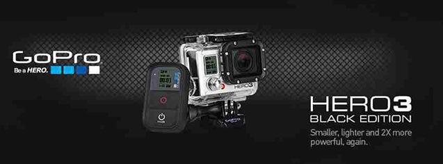 Kamera GoPro HERO3 Black Edition on black 3