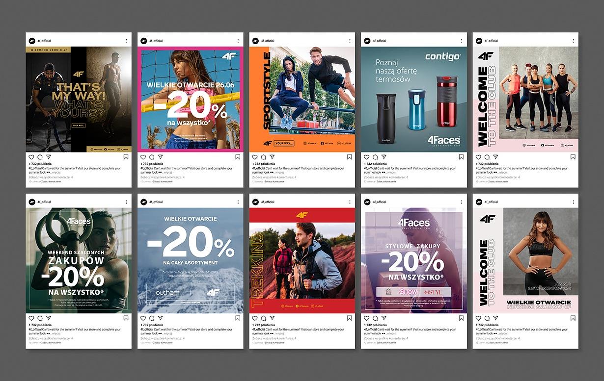 Projekty banerów reklamowych do social mediów dla 4F_01